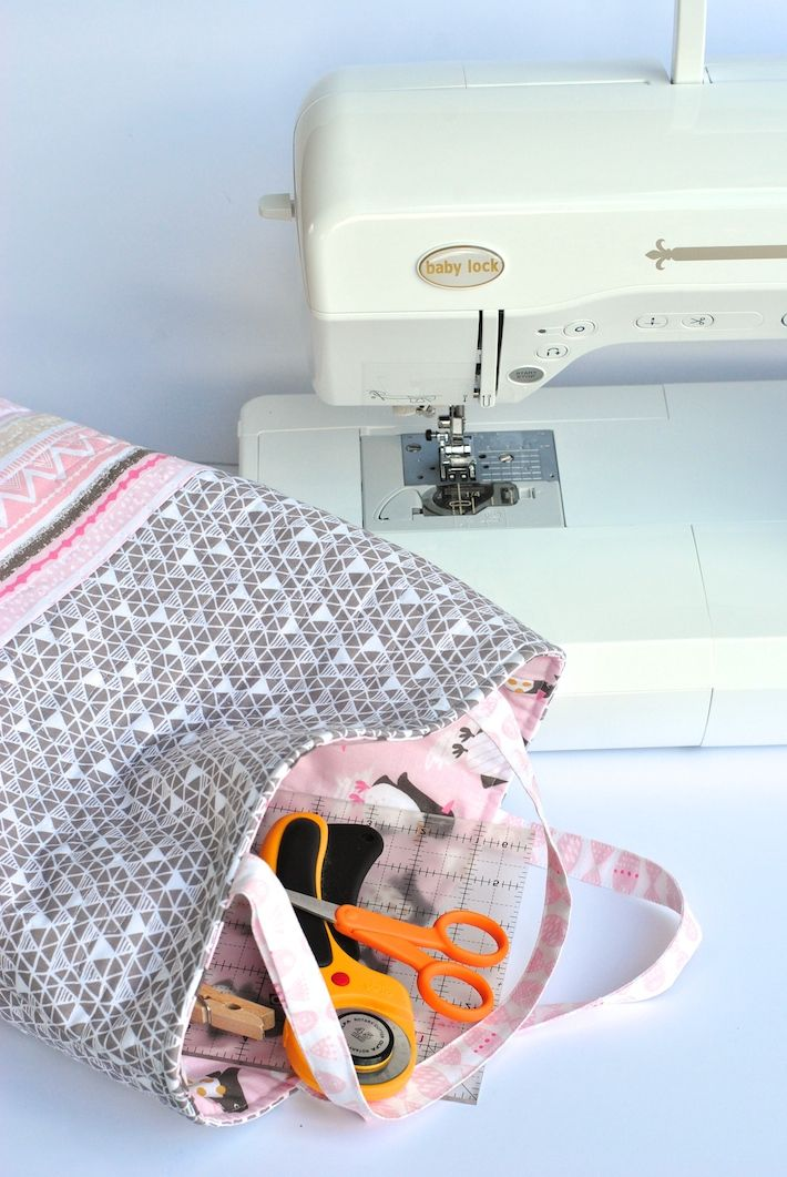 1-Hour Quilted Tote Bag Tutorial: FREE on Craftsy! | All crafty ...
