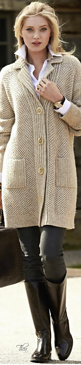 Elsa Hosk ~ Neutral Knit Long Sweater | Fashion | Pinterest | Elsa ...