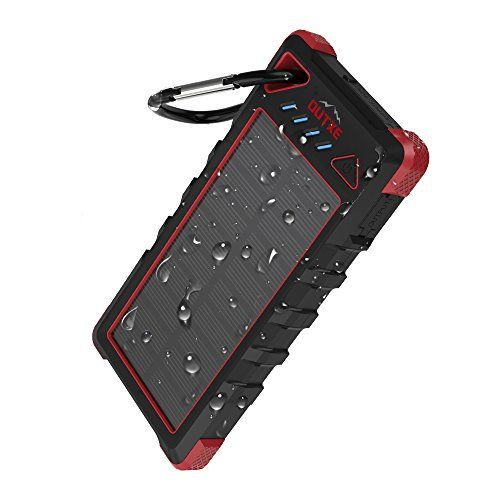 Upgrade Outxe 16000mah Rugged Power Bank With Flashlight Ip67 Waterproof Solar Portable Charger Outdoor Dual U Powerbank Solar Charger Portable Battery Charger