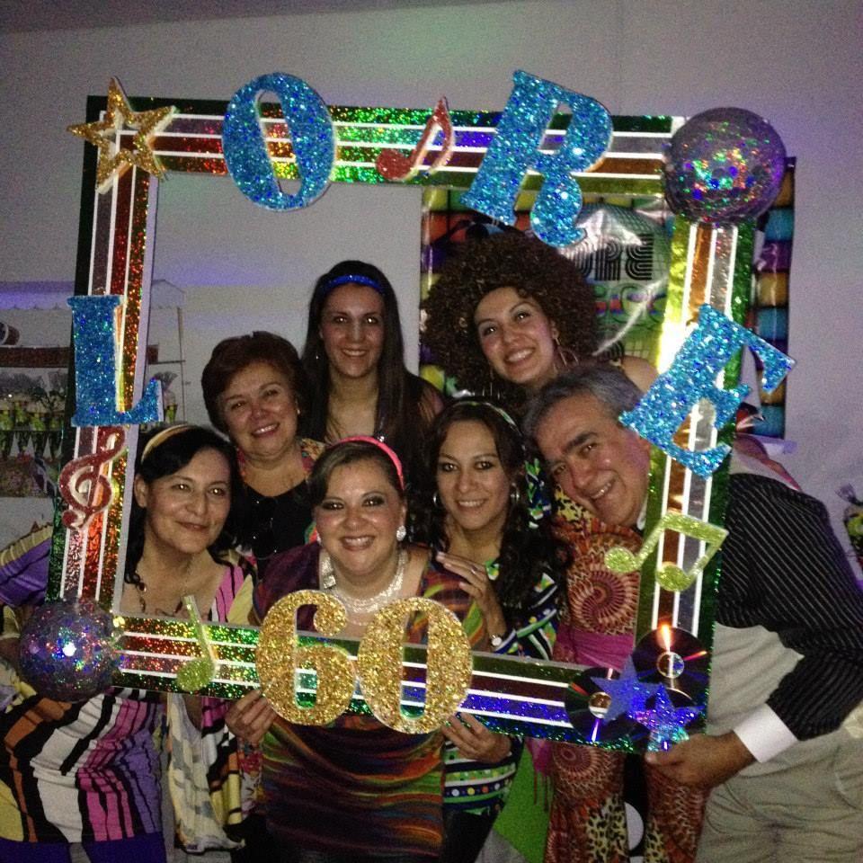 Fiesta Disco, Fiesta 70s, Decoración Fiesta Disco, Marcos para fotos ...