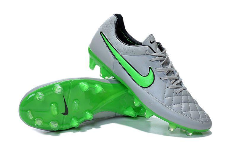 hot sale online ac46f c4e65 Baby Nike Tiempo Legend V FG Wolf Gray Green Strike Black ...