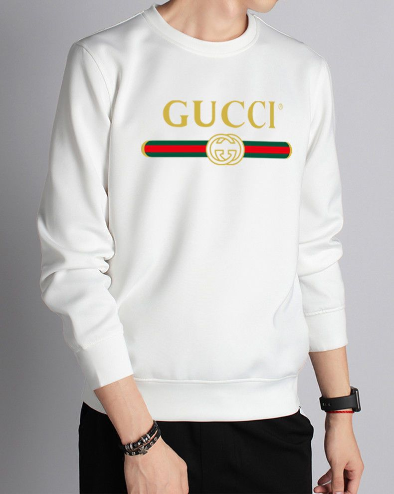 31900a52c6e8 New Gucci mens classic Print t-shirt long sleeve Cotton white | Clothing,  Shoes & Accessories, Men's Clothing, Shirts | eBay!