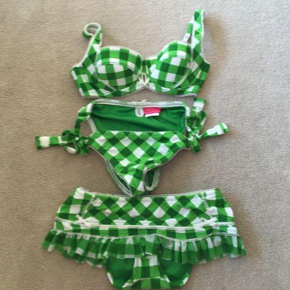 047973c67d0f7 Betsey Johnson swimsuit Betsey Johnson swimsuit. 3 pieces small bra ...