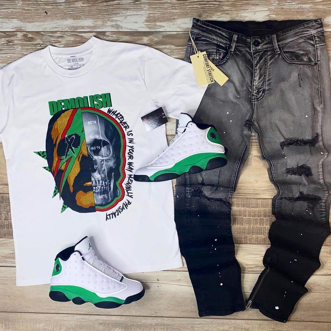 Lucky Green Jordan 13 Outfit