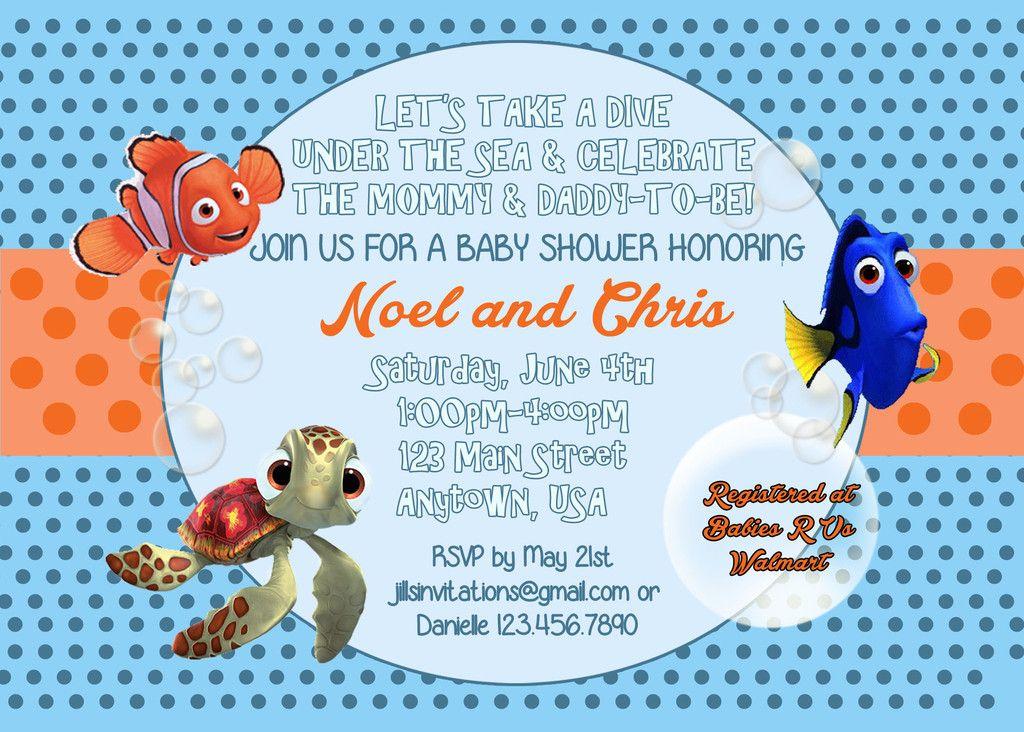Superior Finding Nemo Baby Shower Invitation