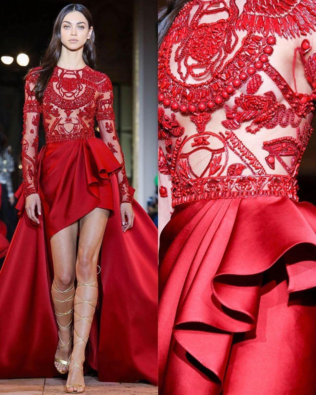 3 408 Curtidas 25 Comentarios Moh D Subhi Dabbagh Ghazal Textile No Instagram Zuhairmurad Pfw 2020 مجموعة زهير مراد الجديدة في باريس الفساتين الحمرا