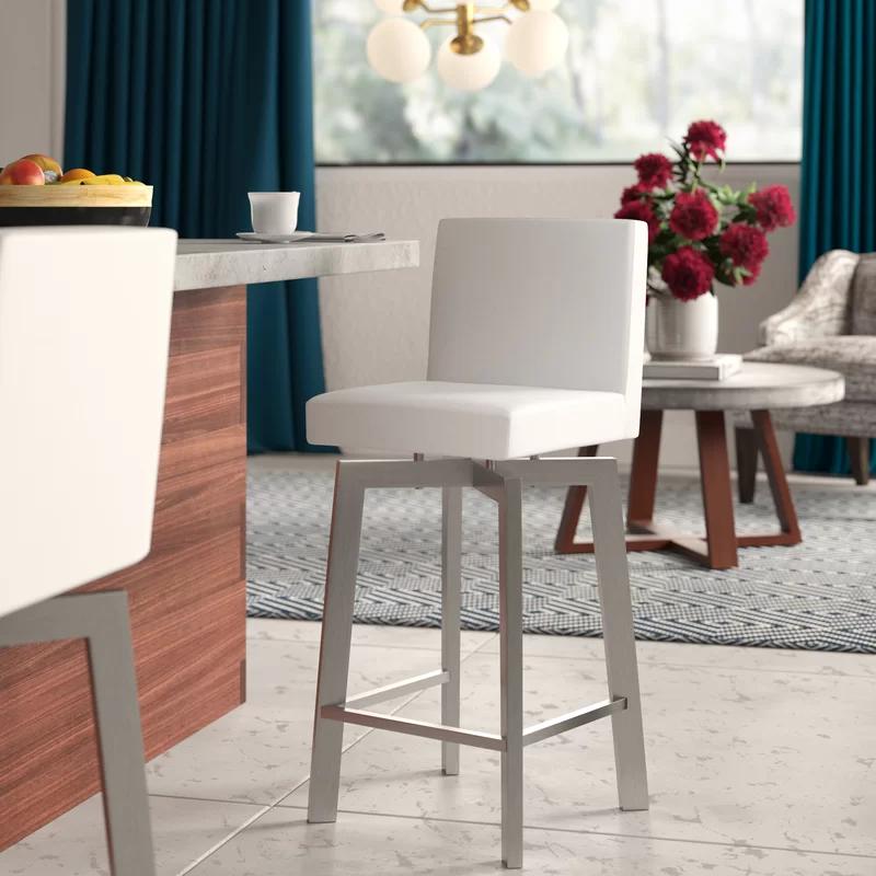 Ebern Designs Avril Adjustable Height Swivel Bar Stool In 2020