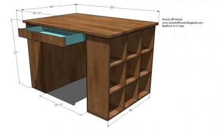 Craft Table Top For The Modular Collection Craft Table Diy Craft Tables With Storage Diy Sewing Table