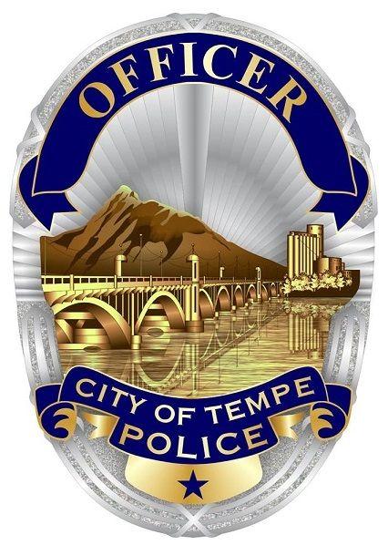 Tempe Pd Az Police Officer Badge Fire Badge Police Badge