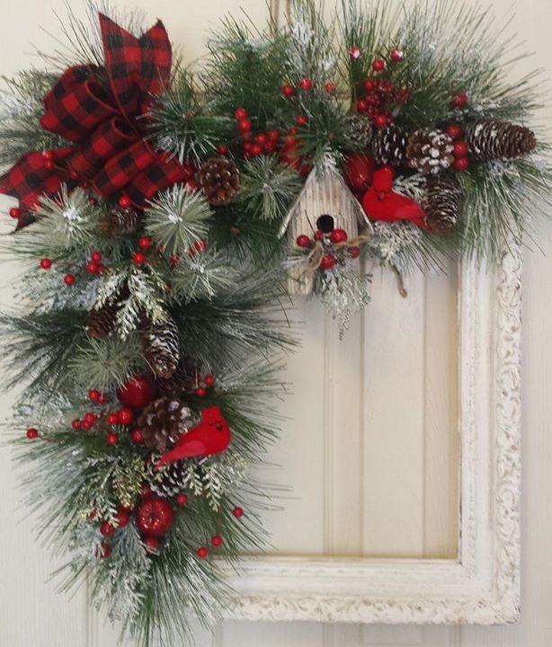 Cadre deco de Noël #garlandofflowers
