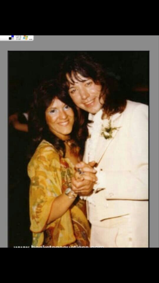 Ace Frehley Of Kiss On His Own Wedding Day Posing For A Photo With