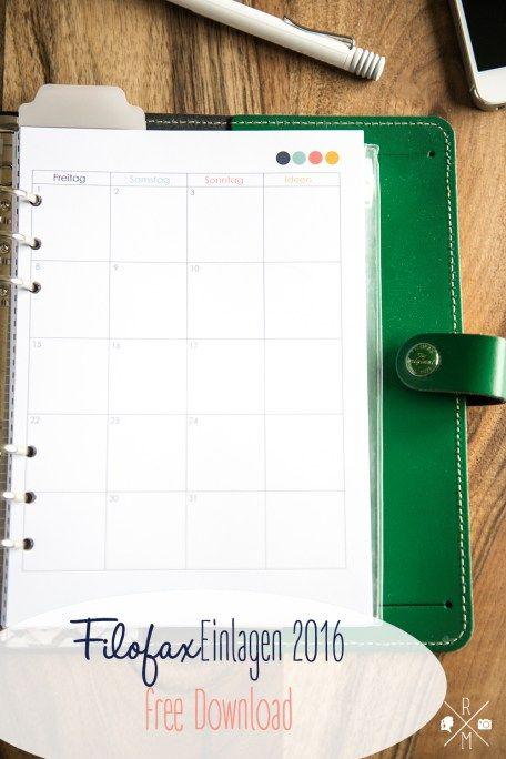 Terminplaner filofaxing Kalendereinlagen 2020-1 Monat auf 2 Seiten in DIN A5