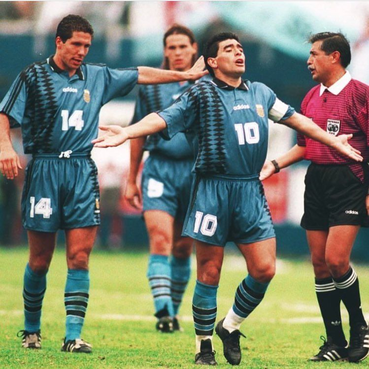 Diego Maradona Diego Simeone And Fernando Redondo At World Cup Usa94 Argentina Maradona Simeone Redondo Diego Maradona World Cup Diego