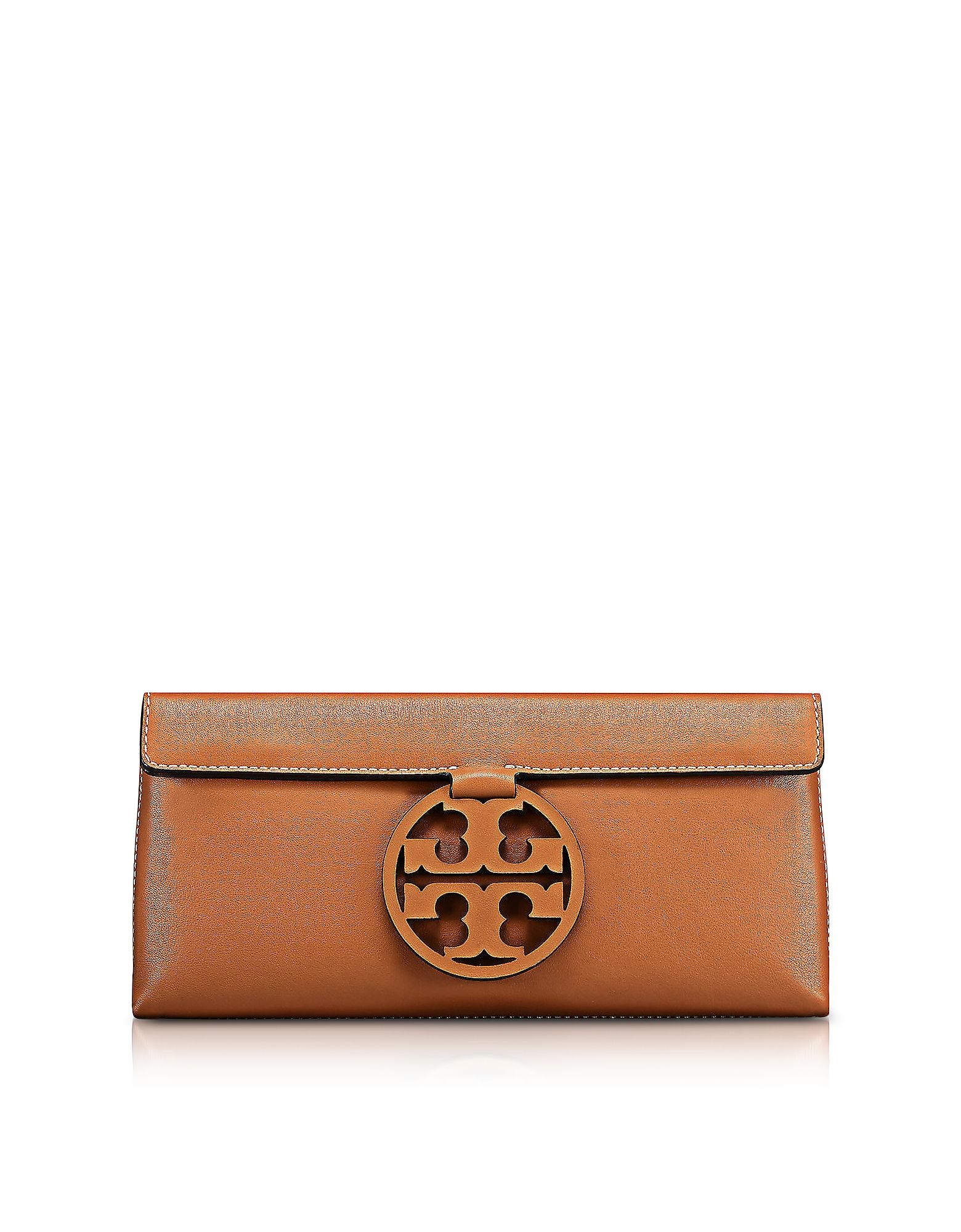 b4840d4315d7 TORY BURCH MILLER NEW CUOIO LEATHER CLUTCH.  toryburch  bags  leather   clutch  hand bags