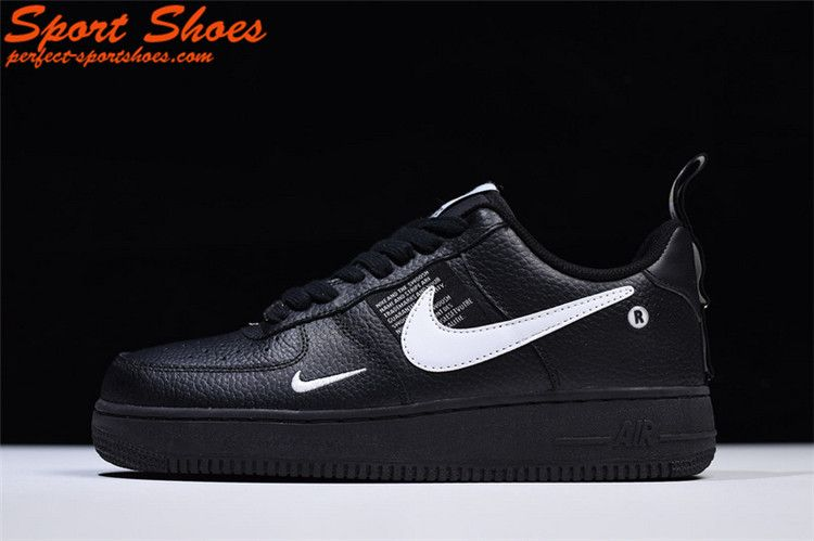 de9f3666f39 Discount Nike Air Force 1 07 LV8 Utility Pack Low Latest Mens Shoes Black  White AJ7747-001