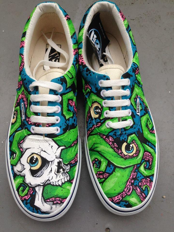 36269ca27885 Custom shoe art by Danny P - Graffiti Skull