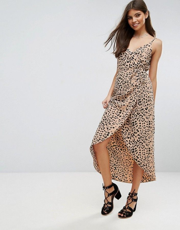 4f39a24c4884 Asos Wrap Cami Maxi Dress in Leopard Print | Products | Fashion ...