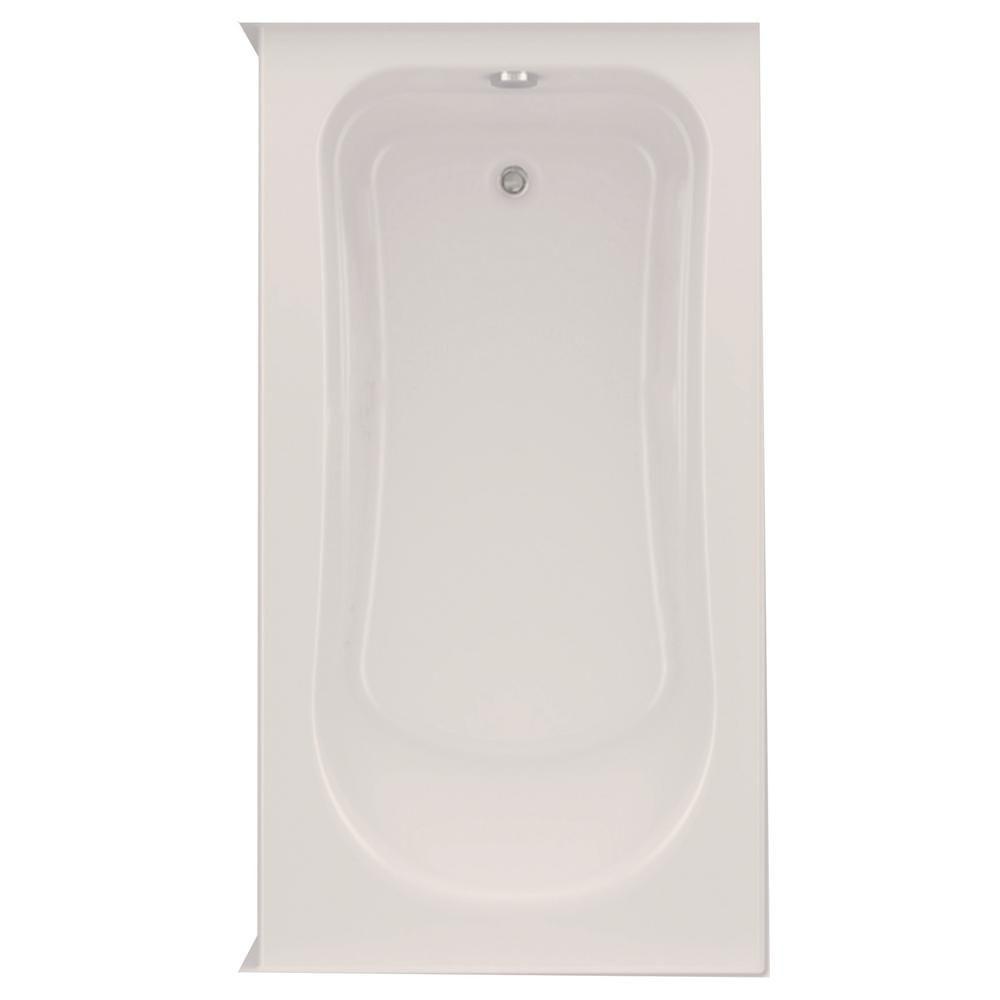 Repose Tete Baignoire Ikea aquatic dossi 32 60 in. acrylic left drain rectangular