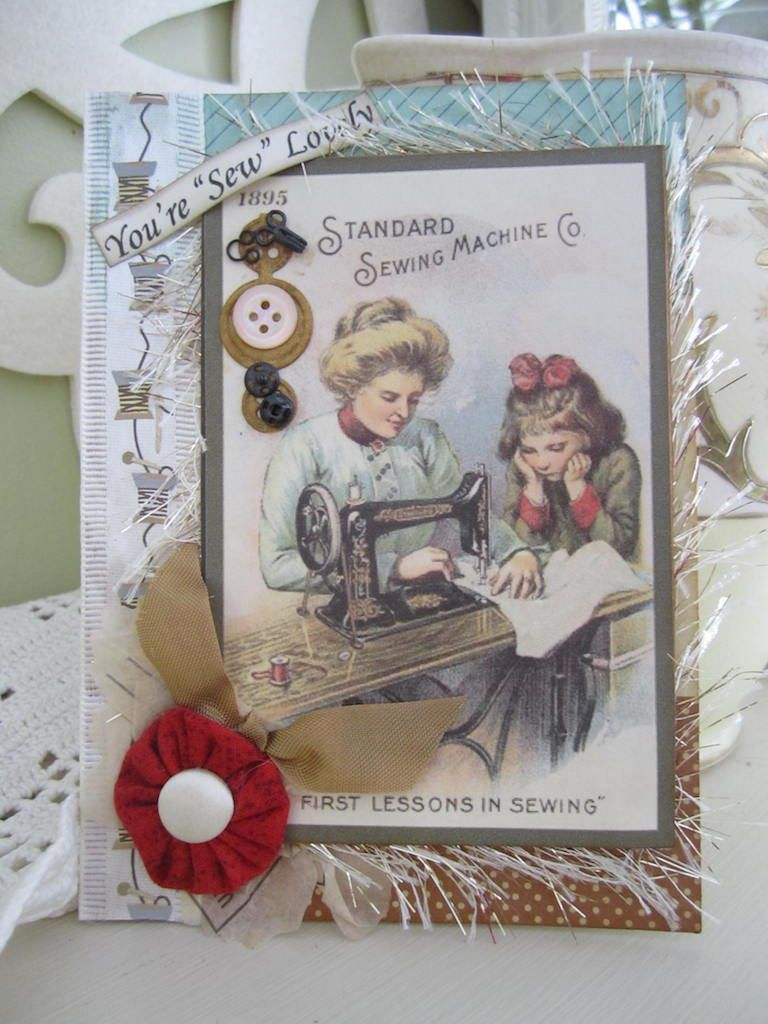 n2s : cost is $7.35 ... Handmade Card for Seamstress Sewing-themed Card by AvantCarde