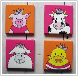 lieve dieren schilderijtjes - speelkamer | pinterest - zoeken, Deco ideeën