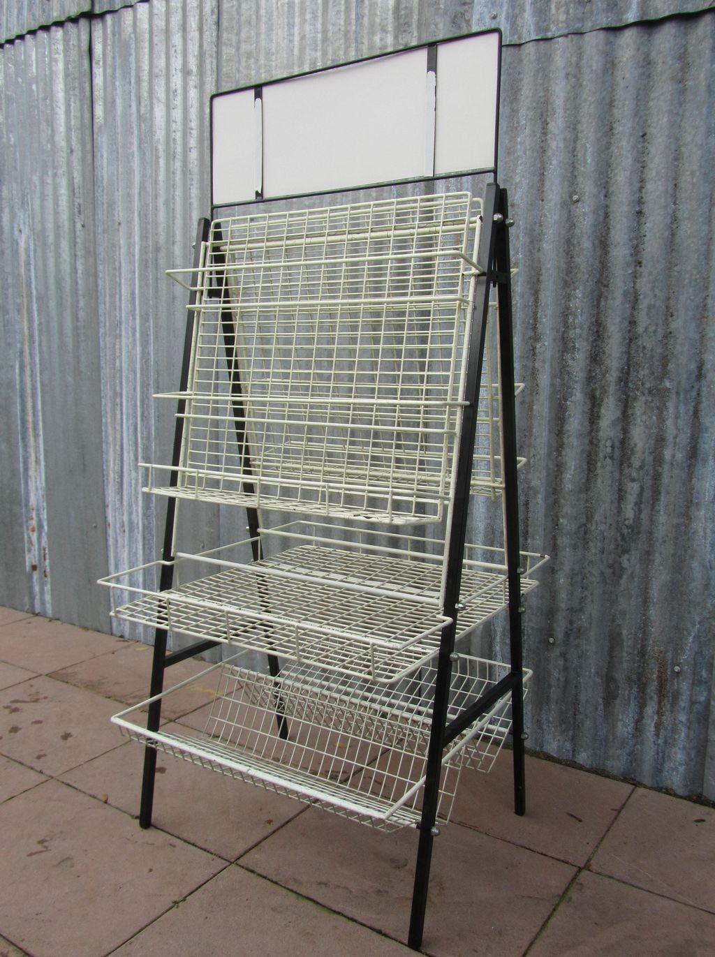 Metalen Opbergrek Zwart.Mooi Vintage Industrieel Winkelrek Display Opbergrek Zwart