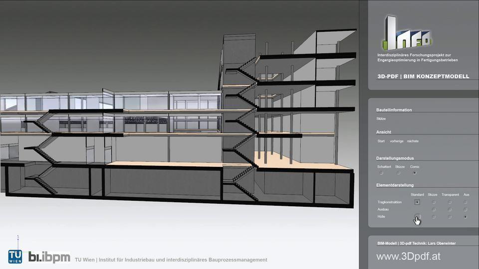 DEEPINTERFACE / 3D-PDF BIM-Konzeptmodell