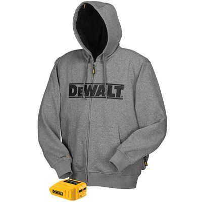 4d5f2b5b DEWALT Medium Gray Lithium Ion (Li-ion) Heated Hoodie | Wish List ...