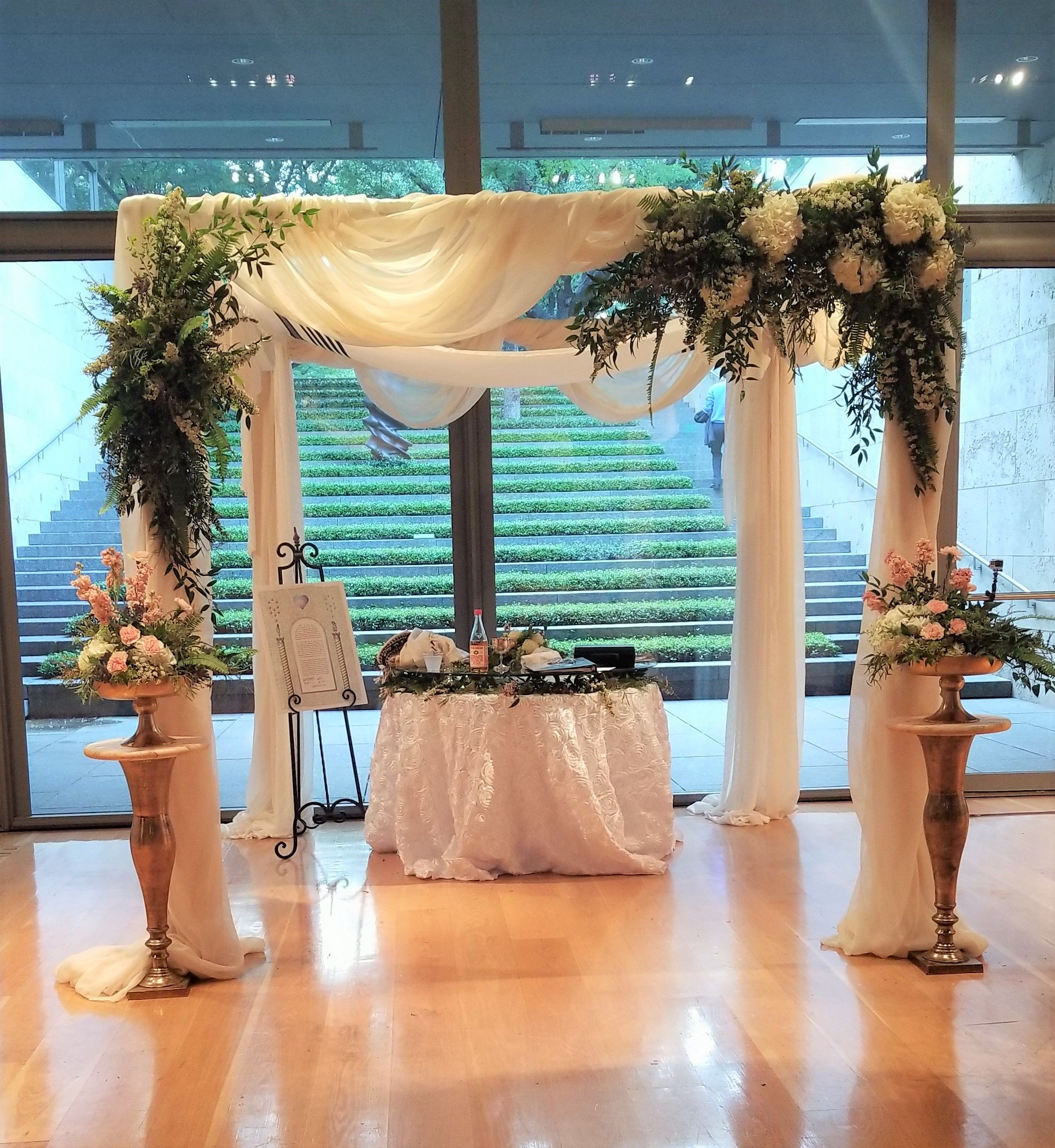Our Chuppah Structure Setup Adnddecorated At The Sculpture