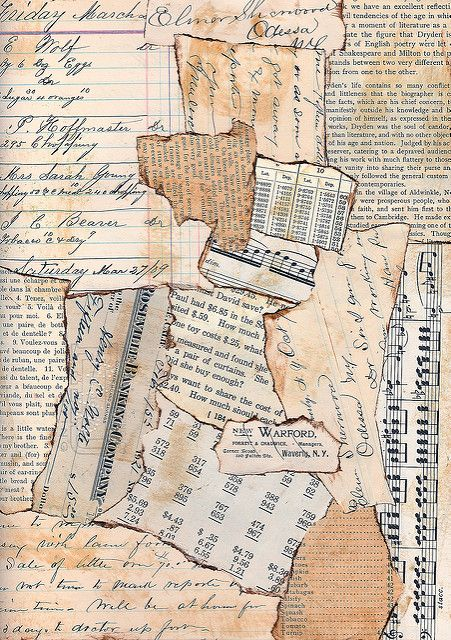 Vintage Background | Made for Mary Green's Green Paper Colla… | Flickr