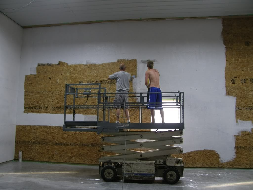 Spray Paint Or Roll Paint OSB!! - The Garage Journal Board ...