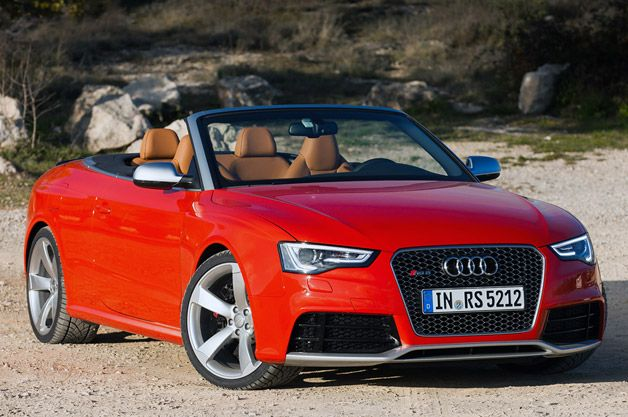 Audi Rs5 Cabriolet Front Three Quarter View Red Audi Rs5 Audi A3 Cabriolet 2014 Audi Rs5