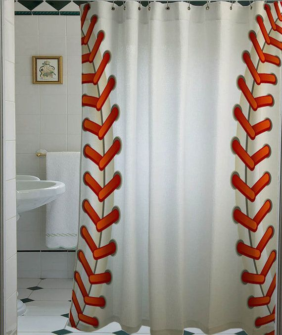 Baseball Texture Ball Shower Curtain That Will Make By Telocurtain