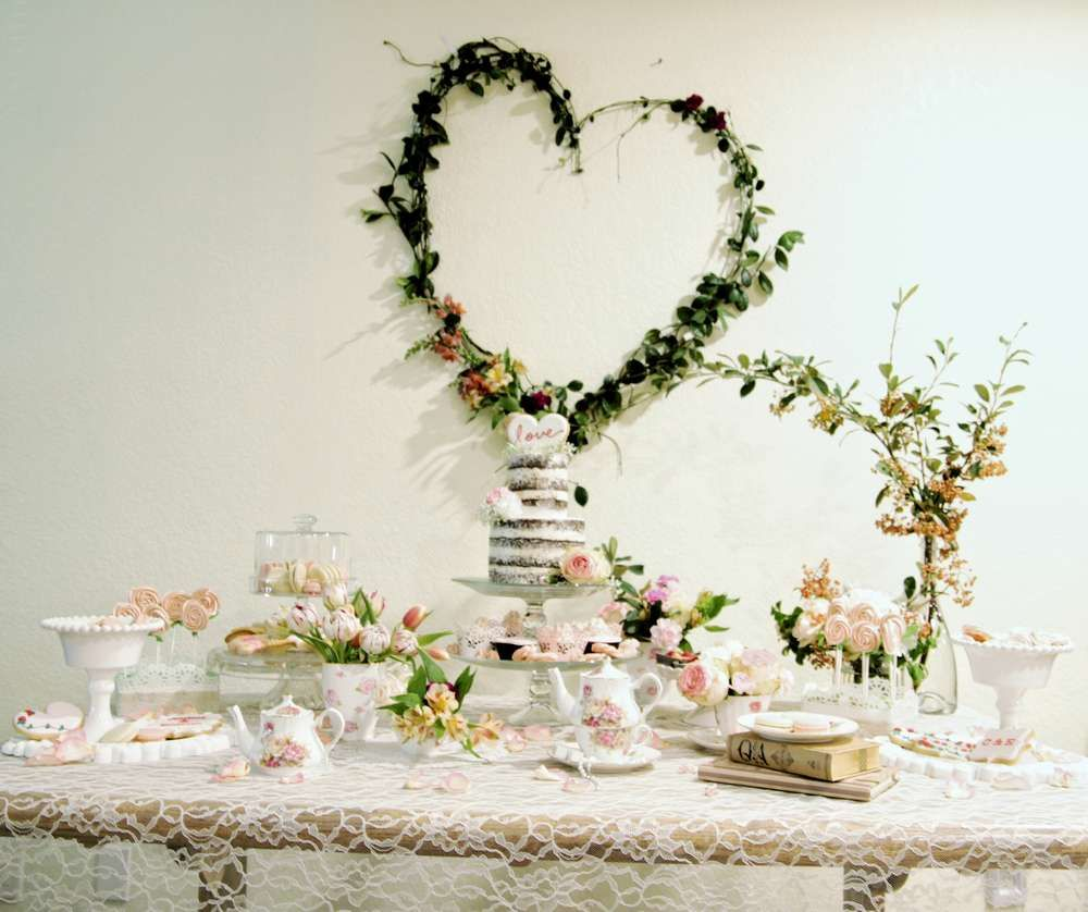 Hearts and Cookies Rustic Afternoon Tea Bridal/Wedding Shower Party ...