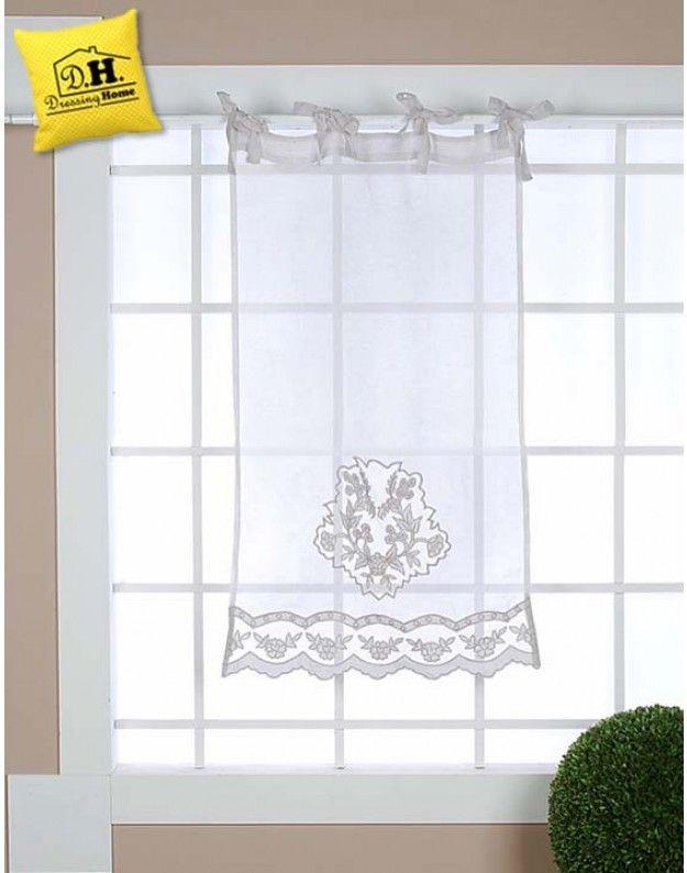 Tenda finestra Blanc Mariclo 60 x 120 cm Colore Grigio cenere ...