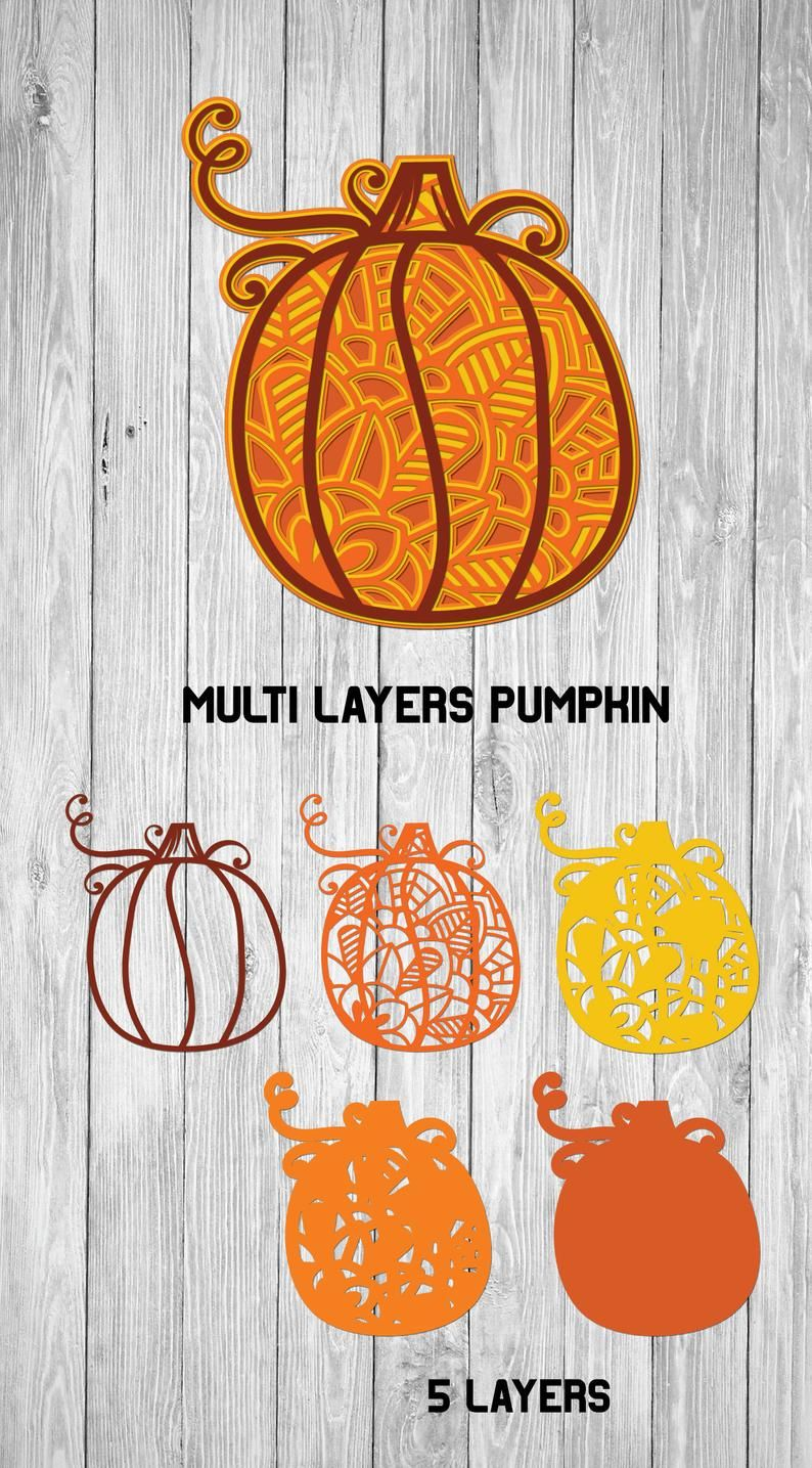 Multi Layer Pumpkin SVG Halloween SVG 3d Layered Etsy in