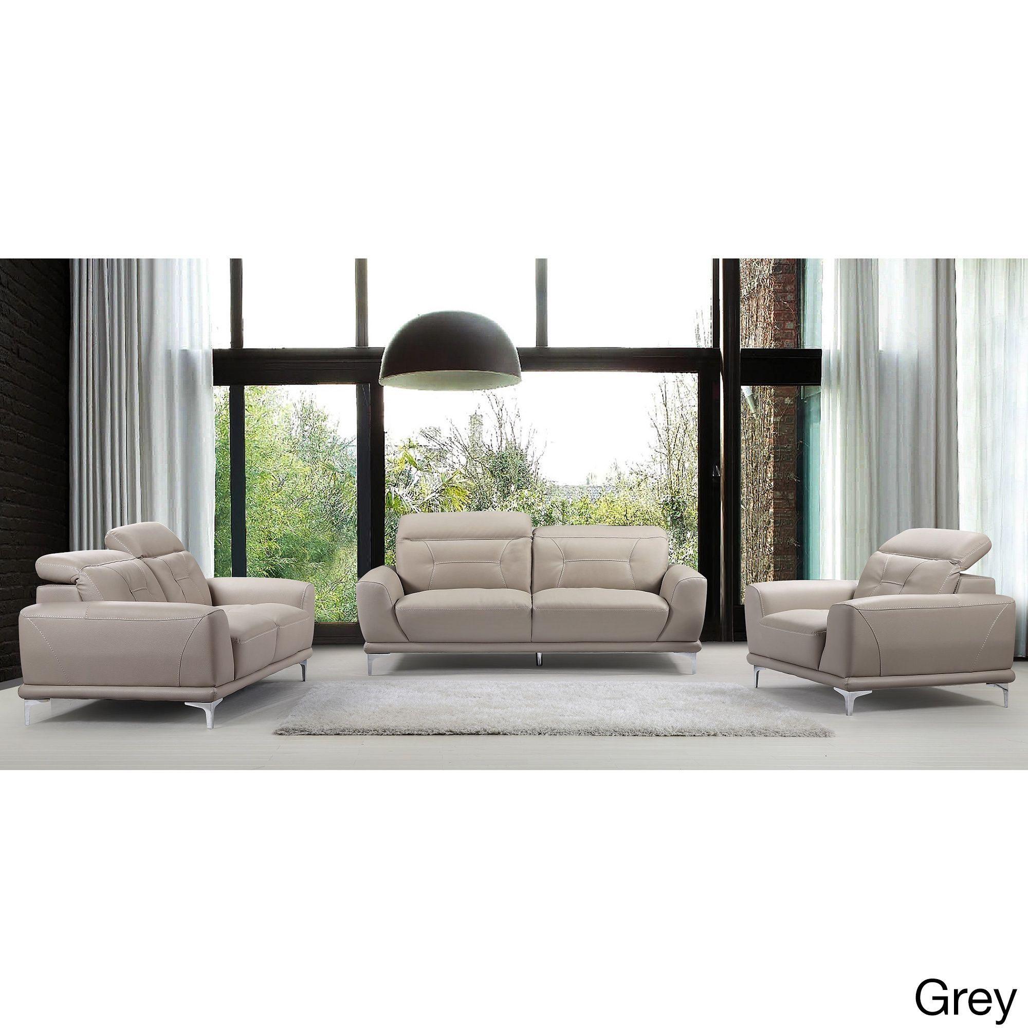 US Pride Furniture Morden Air Black Grey Yellow Leather Wood Sofa
