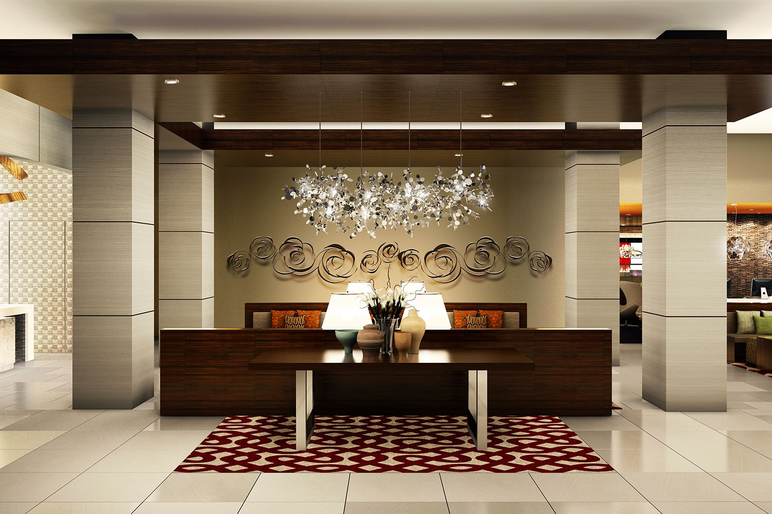 Business lobby design google search commercial office for Design hotel reception