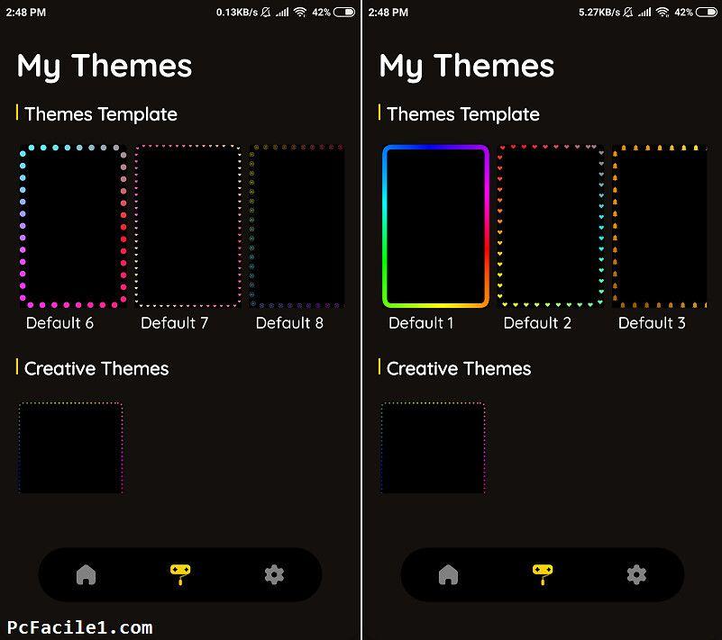 تزيين هاتف أندرويد بحواف مضاءة بألوان متحركة على الشاشة Map Map Screenshot Tips