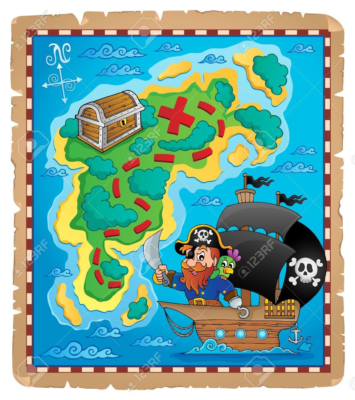 Mapa De Pirata Imagen Tema 1 Ilustracion Vectorial Eps10 Mapas De Piratas Piratas Mapas Del Tesoro