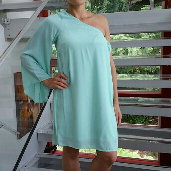 One Shoulder Dress Nwot Fashion Dresses Teal Green Dress