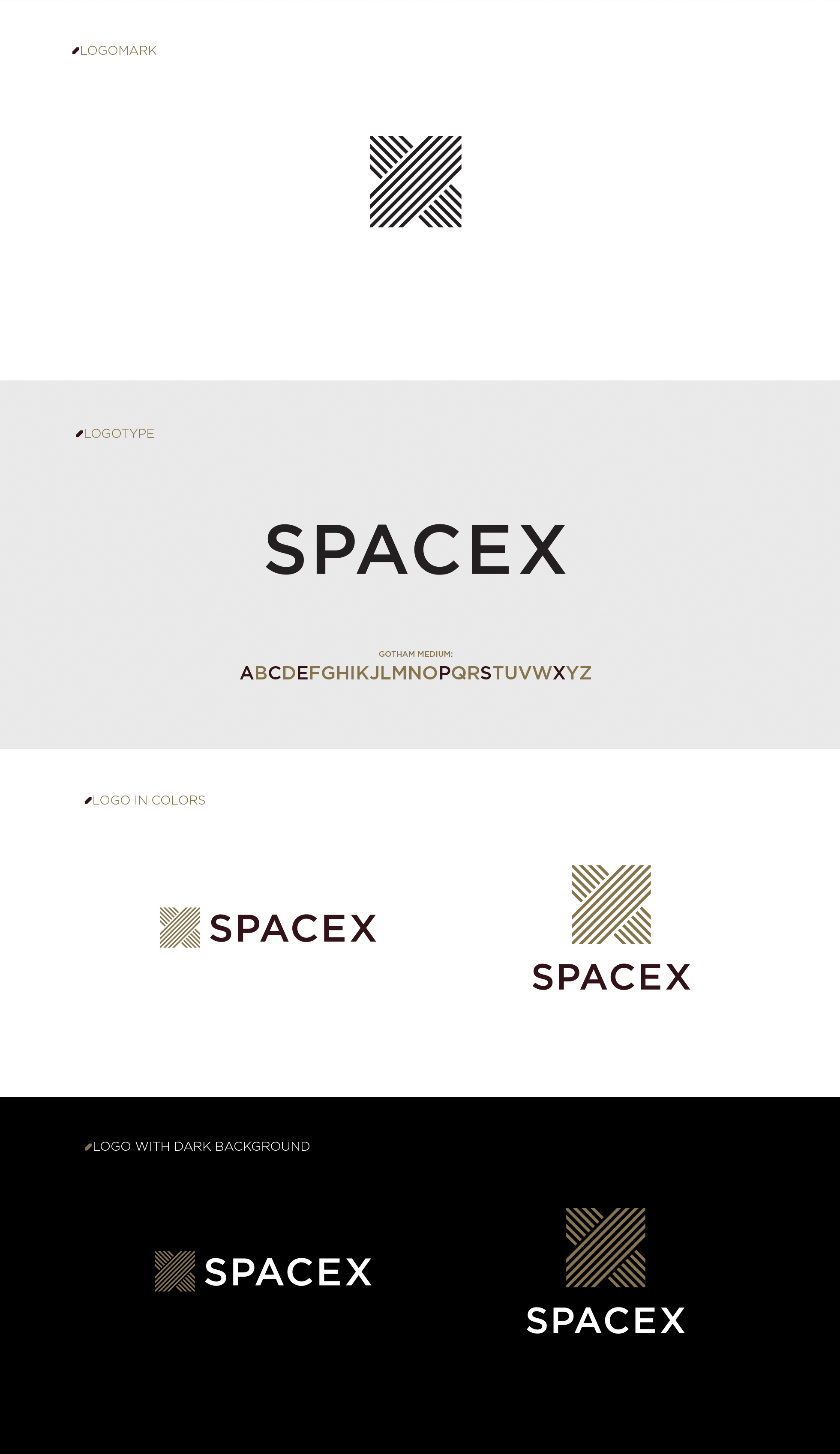 Yuma Naito Spacex Branding Design Visual Identity Design Typography Business Cards