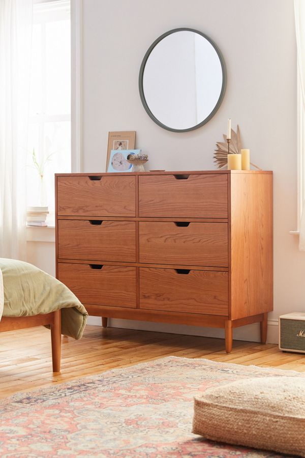 Evie 6 Drawer Dresser In 2020 6 Drawer Dresser Dresser Drawers