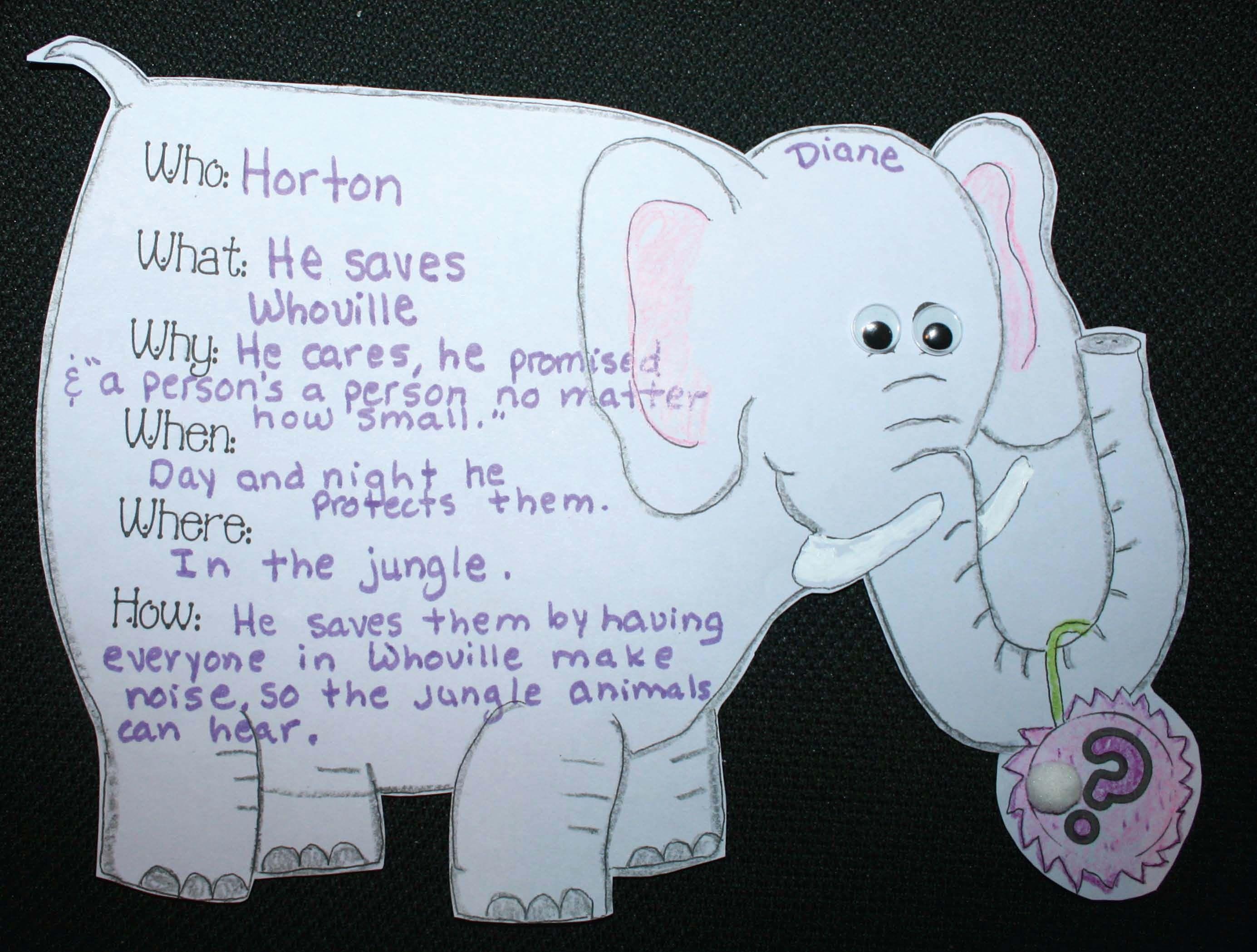 Dr Seuss Activities For Horton Hears A Who