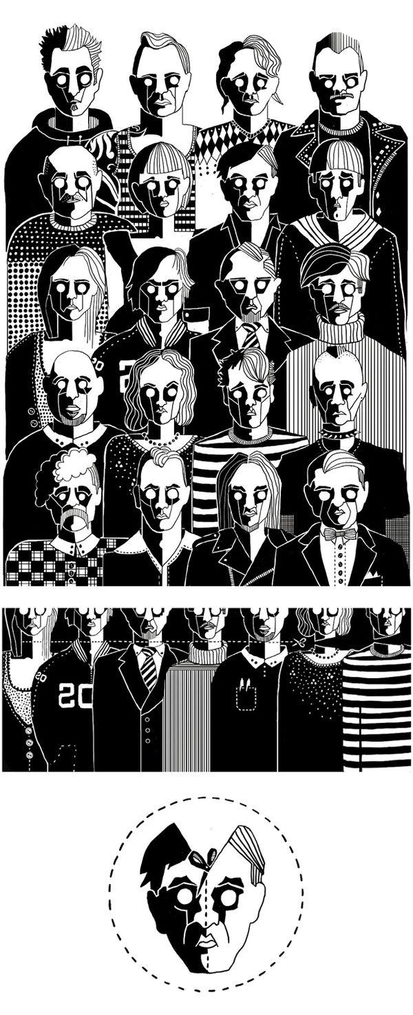 20 Souls by Sandra Blikås, via Behance