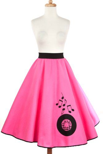 db6627ea35 Hey Viv! Hot Pink Rock n Roll Skirt - Retro 50s Style  Buy New ...