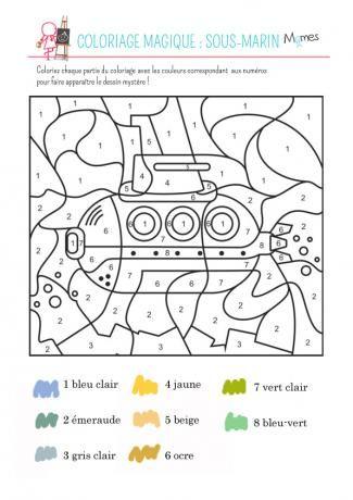 Coloriage A Imprimer Utilitaire.Coloriage Magique Le Sous Marin Utilitaires Pinterest