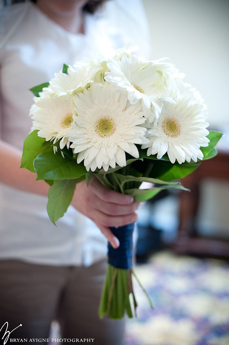 Bridal Bouquet Of White Gerberas Daisy Bouquet Wedding Red