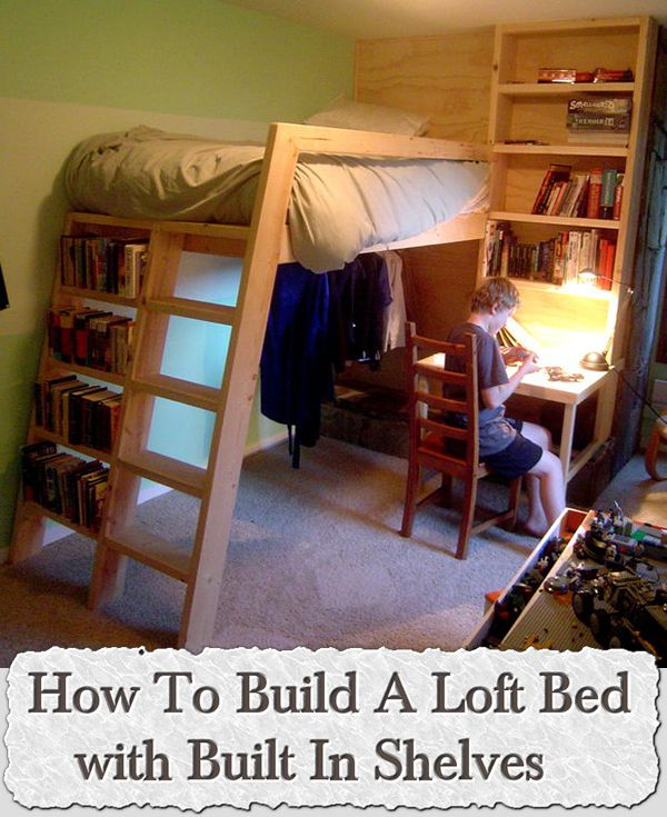 how to build built in shelves