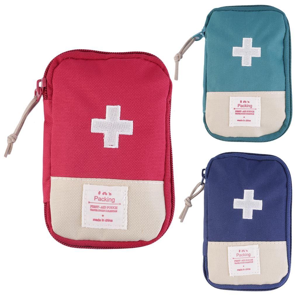 2016 Nuevo Hogar Acampar Al Aire Libre Supervivencia bolsa aprox. 14.5*9.5 cm bolsa de botiquín de Primeros Auxilios Portátil envío de la gota