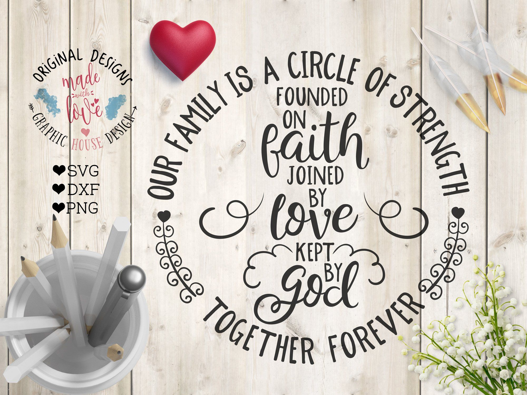 Download Our family is a circle of strength by Graphichousedesign ...